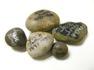 Rocks from Jesse James Gravesite